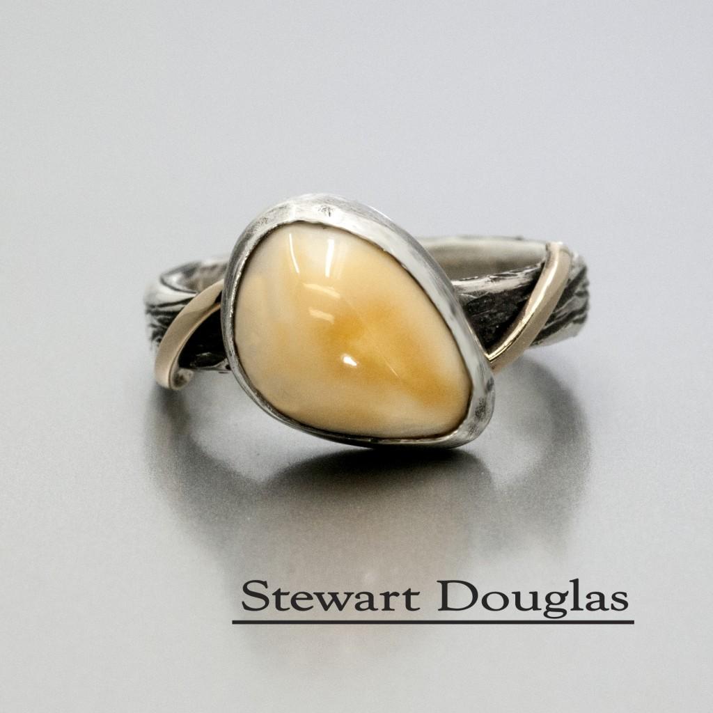 Rustic Elk Ivory Ring Dale S Jewelers